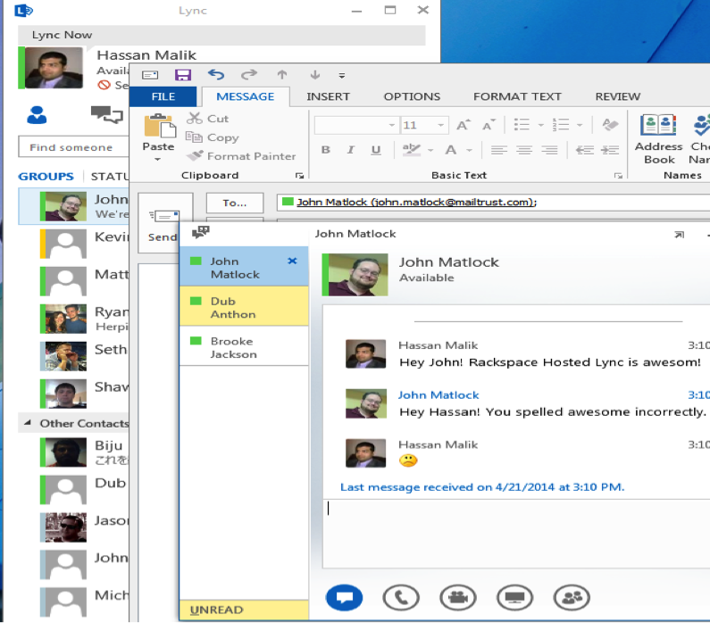 Lync Instant Message : Hosted microsoft lync instant messaging and video calling